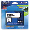 Brother P-Touch TZe Standard Adhesive Laminated Labeling Tape, 1w, Black on White