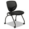 basyx VL302 Series Mesh Back Nesting Chair, Black, 2/Carton