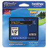 Brother P-Touch TZe Standard Adhesive Laminated Labeling Tape, 1/2w, Gold on Black