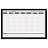 Magnetic Dry Erase Board, 36 x 24, Black/White Calendar with Black-Painted Frame