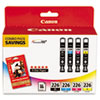 Canon 4546B007AA Ink & Paper Combination, (CLI-226), Black, Cyan, Magenta, Yellow