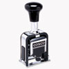 COSCO 2000 PLUS Automatic Numbering Machine, 6 wheels, Self-Inking, Black 3/4 x 1/4