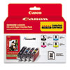 Canon 0628B027 Inks & Paper Pack, PGI-5, CLI-I8, Black; Cyan, Magenta, Yellow