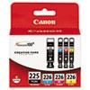 Canon 4530B008AA (PGI-225, CLI-226) Ink, 19 mL, 9 mL, CMYK, 4/Pk