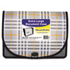 "Expanding File, Plaid, Letter, 1 Pockets, 3.5"" Exp. 1/EA"