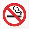 Business Decal Sign, No Smoking, 6 x 6, Red/White/Black