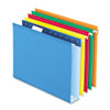 """Pendaflex Reinforced 2"""" Extra Capacity Hanging Folders, 1/5 Tab, Letter, Assorted, 25/Box"""