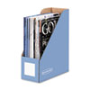 Bankers Box Decorative Magazine File, 4 x 9 x 11 1/2, Cornflower Blue