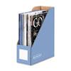 Bankers Box Decorative Magazine File, 4 x 9 x 11 1/2, Cornflower Blue