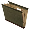 Pendaflex SureHook Reinforced Hanging Folder, 1 Divider, Letter, Standard Green, 10/Box