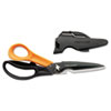 Cuts+More, 9 in. Length, 3-1/2 in. Cut, Black/Orange
