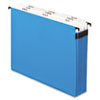 "Pendaflex Nine-Section Hanging Folder, 5 1/4"", Tabs and Labels, 1/3 Tab, Letter, Blue"