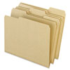 Recycled Paper File Folders, 1/3 Cut Top Tab, Letter, Natural, 100/Box