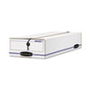 Bankers Box Liberty Check/Voucher Storage Box, 10-3/4 x 23-1/4 x 4-5/8, White/Blue, 12/Ctn.