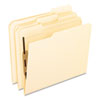 Folders with One Bonded Fastener, 1/3 Cut Top Tab, Letter, Manila, 50/Box