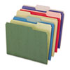 Recycled File Folders, 1/3 Cut Top Tab, Letter, Assorted, 50/Box
