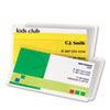 Laminating Pouches, 5 mil, 2 1/4 x 3 3/4, Business Card, 100/Pack