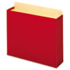 3 1/2 Inch Expansion File Pockets, Straight, Letter, Red, 10/Box