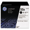 Genuine HP (55X) LaserJet Enterprise P3015, 500 M521 / M525 CE255XD Smart High Capacity Black Toner Cartridge, 2 Pack