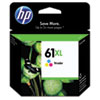HP 61XL, (CH564WN) High Yield Tri-color Original Ink Cartridge
