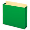 3 1/2 Inch Expansion File Pockets, Straight, Letter, Green, 10/Box