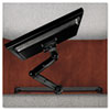 Announce Series Bridge-Mounted Monitor Rail System, 8-1/8w x 8-1/8d x 36l, Black