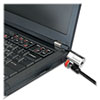 ClickSafe Keyed Laptop Lock, 5ft Cable, Black