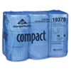 Compact Coreless Bath Tissue, 1500 Sheets/Roll, 18 Rolls/Carton