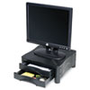 Monitor/Printer Stand w/2 Drawers,13 x 13 1/2 x 5 3/4, Black