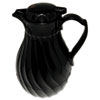 Hormel Poly Lined Carafe, Swirl Design, 40oz Capacity, Black