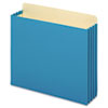 3 1/2 Inch Expansion File Pockets, Straight, Letter, Blue, 10/Box