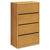 10700 Series Four-Drawer Lateral File, 36w x 20d x 59-1/8h, Harvest