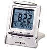 Distant Time Traveler Alarm Clock, 2-1/4in, Silver, 1 AAA (incl)