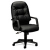 Leather 2090 Pillow-Soft Series Executive High-Back Swivel/Tilt Chair, Black