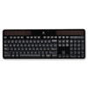 Logitech K750 Wireless Solar Keyboard, 2.4 GHz/30 ft, Black
