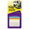 Post-it Durable Hanging File Tabs, 2 x 1 1/2, Striped, Assorted Colors, 24/Pack