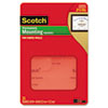Scotch Permanent Heavy Duty Mounting Squares for Fabric Walls, 7/10 x 17/25, 24/Pack