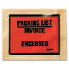 Non-Printed Self-Adhesive Packing List Envelope, 4 1/2 x 5 1/2, White, 1000/Box