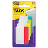 Durable File Tabs, 2 x 1 1/2, Red, Yellow, Green, Blue, 24/PK