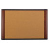 Cork Bulletin Board, 72 x 48, Mahogany Frame
