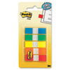 Post-it Flags Flags in Portable Dispensers, Standard Colors, 5 Dispensers of 20 Flags/Color