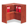 Valencia Series Corner Open Storage Hutch, 36 x 36 x 36, Medium Cherry