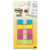 Flags in Portable Dispenser, 5 Bright Colors, 5 Dispensers of 20 Flags per Color