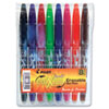 Pilot FriXion Ball Erasable Gel Pen, 0.7mm Fine Point, Assorted, 8/Pack