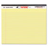 Landscape Format Writing Pad, College Ruled, 11 x 9-1/2, Canary, 40 Sheets/Pad