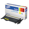 Samsung CLTY407S (CLT-Y407S) Toner, 1,000 Page-Yield, Yellow