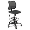 Safco Vue Series Mesh Extended Height Chair, Acrylic Fabric Seat, Black