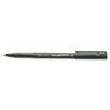 uni-ball Onyx Roller Ball Stick Dye-Based Pen, Black Ink, Fine, Dozen