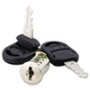 Alera Core Removable Lock and Key Set, Silver, Two Keys/Set