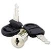 Alera Core Removable Lock and Key Set, Silver, Two Keys/Set